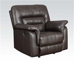 Neon Recliner in Dark Brown Leather by Acme - 50842