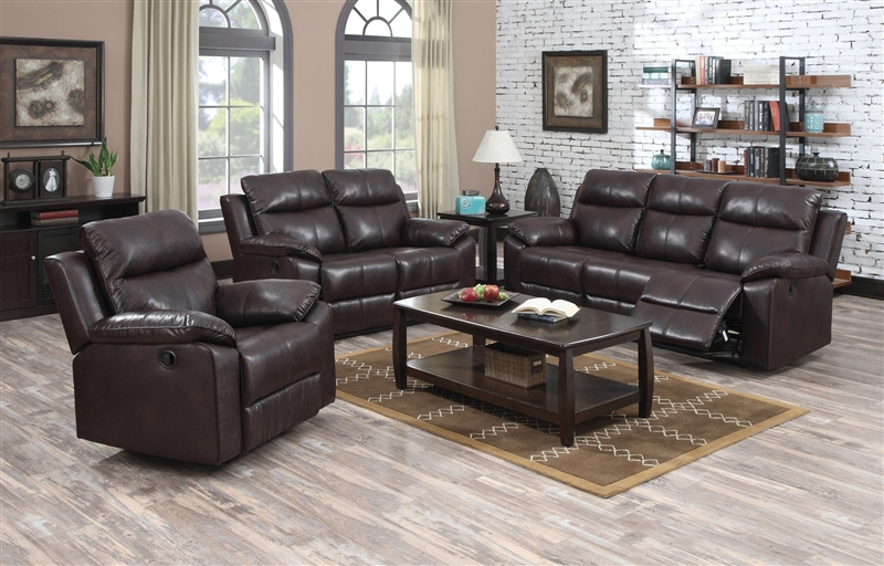 Dyson Burgundy Leather Aire 2 Piece Reclining Sofa Set by Acme - 50855-S