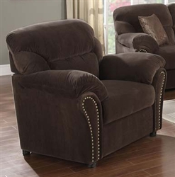 Patricia Chocolate Velvet Recliner by Acme - 50957