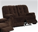 Nailah Chocolate Champion Fabric Reclining Loveseat by Acme - 51146
