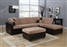 Milano Camel Champion / Espresso Bycast Right Facing Chaise Reversible Sectional by Acme - 51230