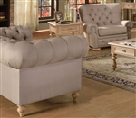 Shantoria Beige Linen Loveseat by Acme - 51306