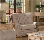 Shantoria Beige Linen Chair by Acme - 51307