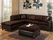 Milano Chocolate Easy Rider / Espresso Bycast Left Facing Chaise Sectional by Acme - 51325-R