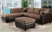 Milano Saddle Easy Rider / Espresso Bycast Left Facing Chaise Sectional by Acme - 51330