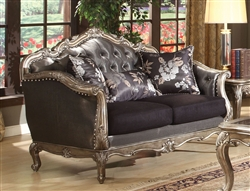 Chantelle Loveseat in Antiqued Silver Finish by Acme - 51541