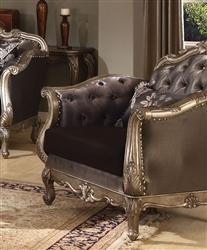 Chantelle Chair in Antiqued Silver Finish by Acme - 51542
