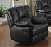 Obert Dark Brown Leather Aire Recliner by Acme - 51657
