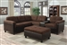 Cleavon Reversible Sectional in Chocolate Easy Rider / Espresso PU by Acme - 51660