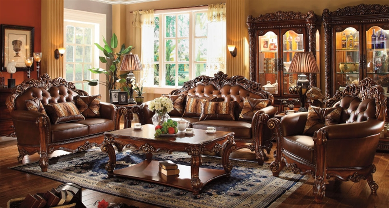 Vendome Loveseat In Cherry Finish By Acme 52002
