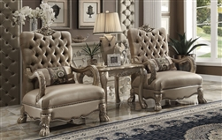 Dresden 2 Piece Chair Set in Gold Patina Finish by Acme - 52092-S