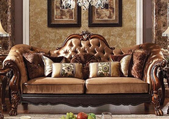 Amazing Dresden 2 Piece Living Room Set In Cherry Oak Finish By Acme 52095 S Machost Co Dining Chair Design Ideas Machostcouk