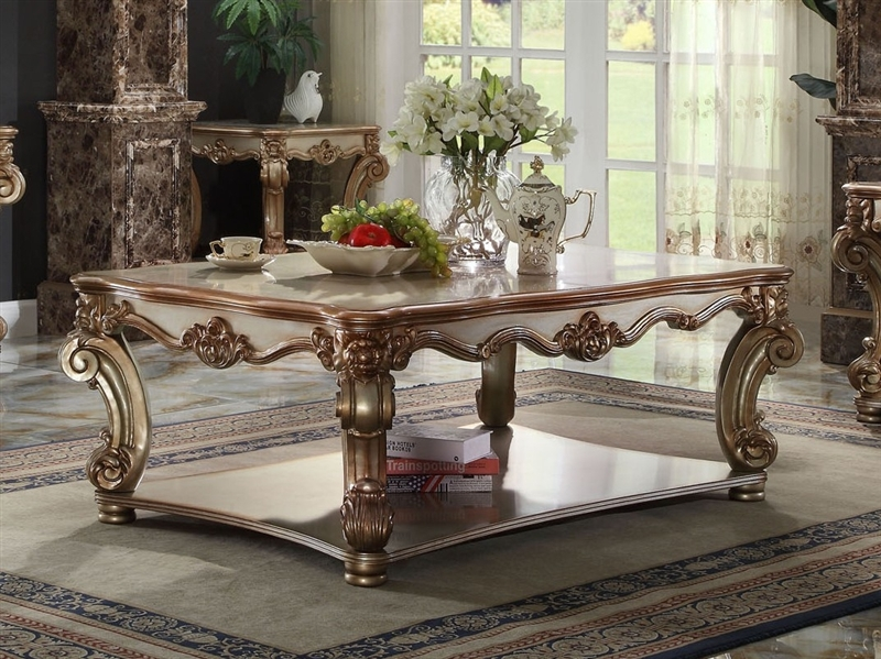 Vendome Sofa In Gold Patina Finish By Acme 53010