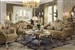 Dresden 2 Piece Living Room Set in Gold Patina Finish by Acme - 53160-S