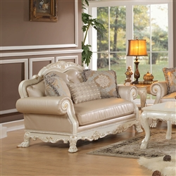 Dresden Loveseat in Antique White Finish by Acme - 53261
