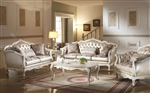 Chantelle 2 Piece Sofa Set in Pearl White Finish by Acme - 53540-S