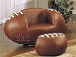 All Star Football Chair & Ottoman by Acme - 5526