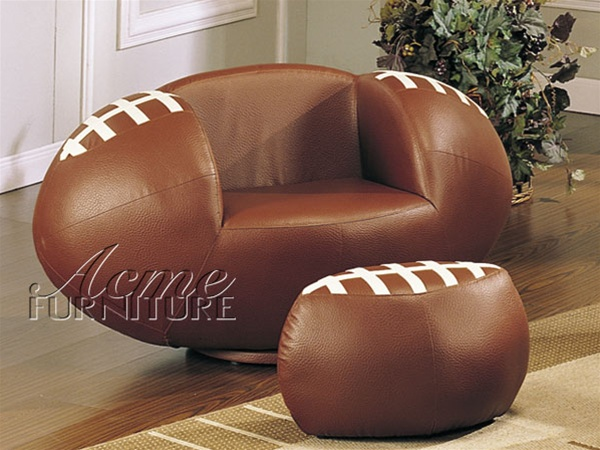 Astonishing All Star Football Chair Ottoman By Acme 5526 Unemploymentrelief Wooden Chair Designs For Living Room Unemploymentrelieforg
