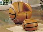 All Star Basketball Chair & Ottoman by Acme - 5527