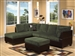 Connell Sectional in Olive Gray Corduroy / Espresso PU by Acme - 55955