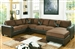 Dannis Sectional in Chocolate Microfiber by Acme - 56000