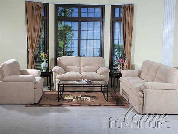 Fantastic Bonita Light Beige Microfiber Sofa By Acme 5815 Pabps2019 Chair Design Images Pabps2019Com