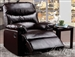 Arcadia Brown Bonded Leather Recliner by Acme - 59015