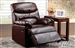 Arcadia Cracked Brown Bonded Leather Recliner by Acme - 59016