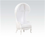 Jana Neo Classic White Throne Chair Accent Chair by Acme - 59115