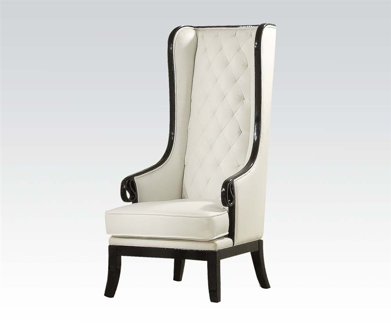 Pedro Neo Classic Black And White Accent Chair By Acme   59128