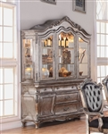 Chantelle Buffet & Hutch in Antique Silver Finish by Acme - 60544