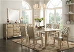 Voeville 5 Piece Dining Set in Antique Gold Finish by Acme - 61000