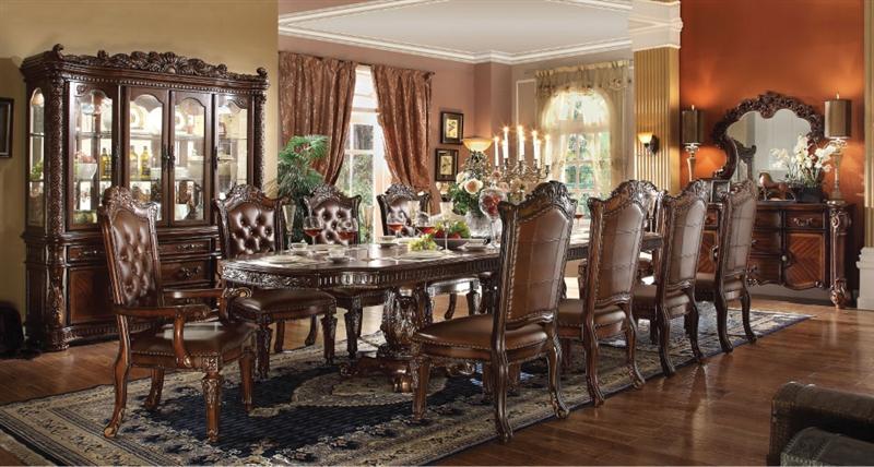 Vendome 7 Piece Double Pedestal Table, Vendome Dining Room Set