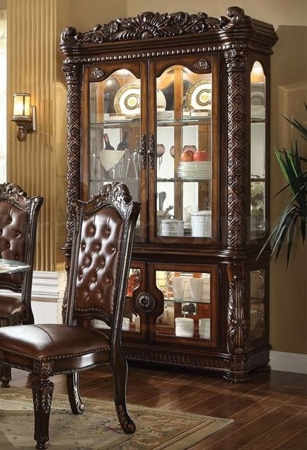 Vendome Curio Cabinet In Cherry Finish By Acme 62023