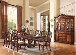 Nathaneal 7 Piece Dining Set in Tobacco Finish by Acme - 62310