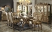 Dresden 7 Piece Dining Set in Gold Patina Finish by Acme - 63150