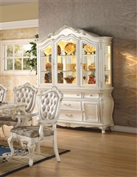 Chantelle Buffet and Hutch in Pearl White Finish by Acme - 63544