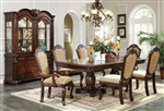 Chateau De Ville Double Pedestal Table 7 Piece Dining Set in Espresso Finish by Acme - 64075