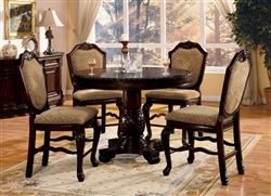 Chateau De Ville 5 Piece Counter Height Dining Set in Espresso Finish by Acme - 64082