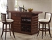 Pacifica 3 Piece Kitchen Island / Bar Unit in Dark Oak Finish by Acme - 70025