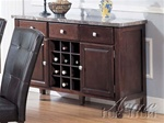 Danville Black Marble Top Server in Espresso Finish by Acme - 7057