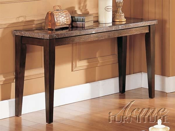 Danville Black Marble Top Sofa Table In