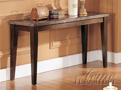 Danville Black Marble Top Sofa Table in Espresso Finish by Acme - 7144