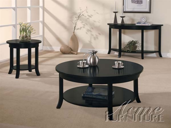 Gardena 3 piece occassional table set in dark espresso finish by acme 8000 s