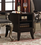 Chantelle Side Table in Cappuccino Finish by Acme - 80552