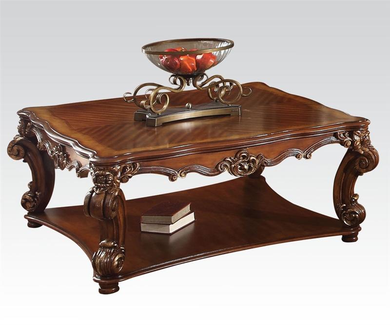 Cherry Coffee Table vendome rectangular coffee table in cherry finishacme - 82000