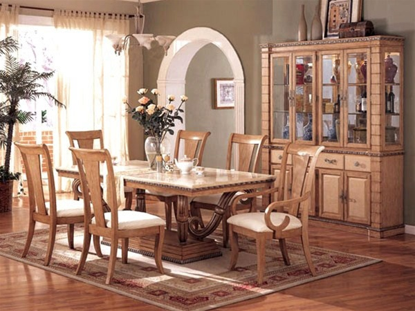 Piece Mystic Dining Set in Maple Finish by Acme - 8765