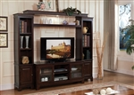 Halden Entertainment Center in Merlot Finish by Acme - 91090