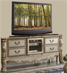 Dresden 79 Inch TV Stand in Gold Patina Finish by Acme - 91333