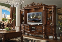 Dresden Entertainment Center in Cherry Oak Finish by Acme - 91335